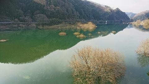 満水の旭川ダム